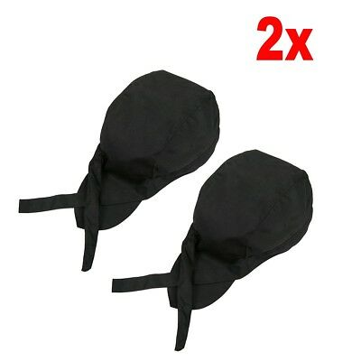2x Men Women Chef Hat Catering Baker Kitchen Cook Beret Golf Caps Black US Ship