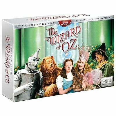 NEW The Wizard of Oz (Blu-ray/DVD, 5-Disc Set, 75th Collector's Limited Edition)