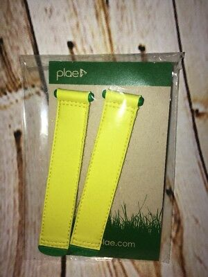 PLAE Shoes Replacement Strap Tabs Pair Fluorescent Neon Yellow Green Kid L 13-3