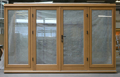 Bespoke Oak Timber French Doors with Sidelights, Made to Measure