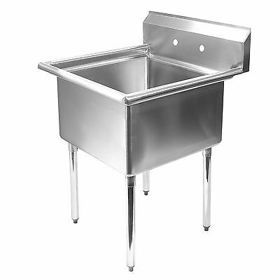 """One 1-Compartment Mop Sink 24""""x24"""" Stainless Steel Restaurant Commercial Kitchen"""
