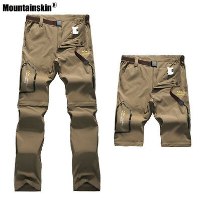 Men Pants Hiking Fishing Camping Outdoor Summer Quick Dry Removable Shorts S-6XL
