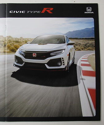 """Collectors 2017 Honda CIVIC TYPE R Brochure Incl. 11""""x17"""" poster FREE SHIPPING"""