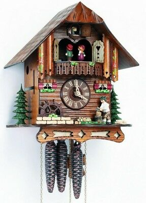 17inch Moving Wood Chopper Schneider German Black Forest Cuckoo Clock with Music