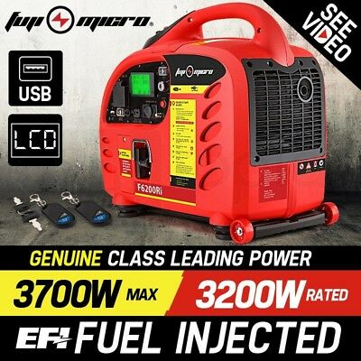 3700W Petrol Inverter Generator -F6200Ri Home Indoor Outdoor FUJI-MICRO 3
