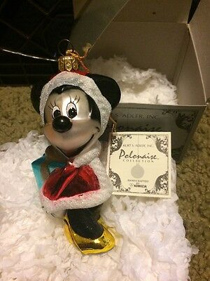 Kurt S Adler Polonaise Minnie Mouse Disney Holiday Ornament NIB