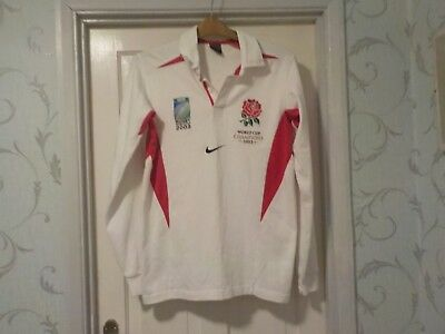Rare England World Cup champions 2003 rugby shirt, long sleeved, small/med adult