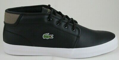 ada894dcf9a3 Lacoste Men s Ampthill Chunky SEP Leather Synthetic Mids Black 30SPM000102H  New