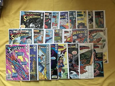 Lot of 23 Superman (1939 1st Series) from #354-415 VF-NM Near Mint