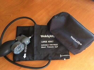 Welch Allyn Tycos Blood Pressure Gauge With Large Adult Cuff And Zippered Case