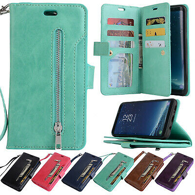 For Samsung Galaxy Note 9/S8/S7 Phone Case Cover Card Wallet Flip Leather Stand