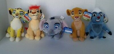 "The Lion Guard Lot of 5 Small Plush 6"" Disney Junior  NWT New with Tags Fuli +"