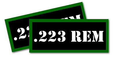 ".223 REM Ammo Can Labels for Ammunition Case 3.5"" x 1.50"" stickers decals(2PACK)"