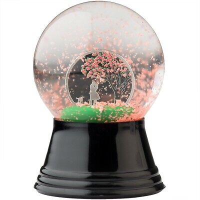 2017 $1 Cook Islands Cherry Blossom Globe 1/10oz .999 Silver Proof Coin