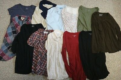 Huge Lot of MEDIUM Maternity Shirts T-Shirts Long Sleeve Blouse V-Neck