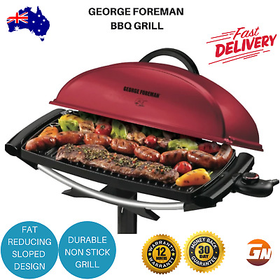 Electric BBQ George Foreman Indoor Outdoor Barbeque Grill on Stand or Benchtop