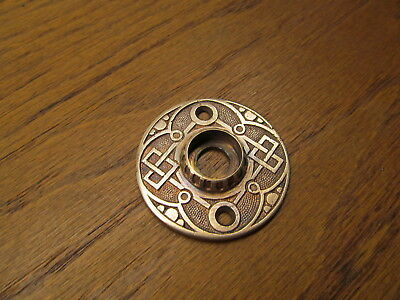 Old Brass ? Bronze ? Door Knob Rosette...escutcheon...door Plate Ornate Nice