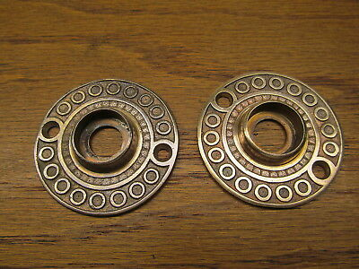 "Brass ? Bronze ? "" Lockwood "" ? Rosette..door Knob Escutcheon...backplate..nice"