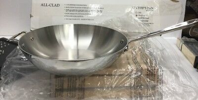 All-Clad Stainless 12-Inch Chefs Pan  wok-like no lid