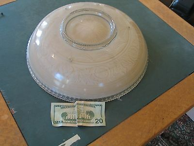 Vintage Antique Victorian Beige Glass Ceiling Light Fixture Globe Shade