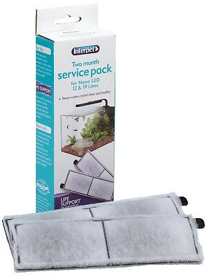 Interpet Two Month Service Pack for Nano LED Aquariums 2 filter cartridges clean