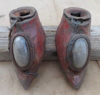 1940 1941 Ford Truck HEADLIGHT STANDS Original pair pickup panel 1940-47 COE