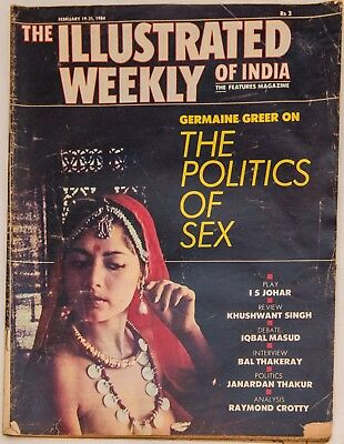 THE ILLUSTRATED WEEKLY OF INDIA Feb 1984 Calcutta University Bal Thakeray Anand
