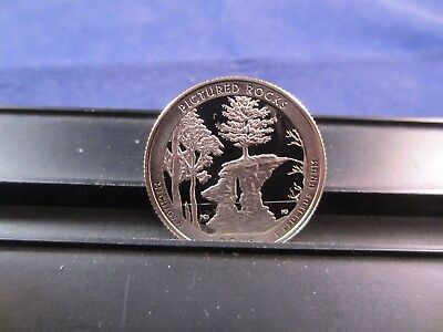 2018 S CLAD Quarter Pictured Rocks  Lakeshore MI Deep Cameo Mirror Proof