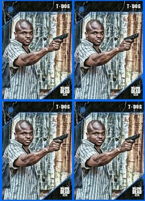 4x 2018 POINT OF IMPACT BLUE T-DOG The Walking Dead Trader Digital Card