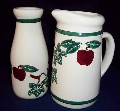 Pitcher And Vase From Crock Shop Santa Ana, Ca  Apple And Ivy Pattern