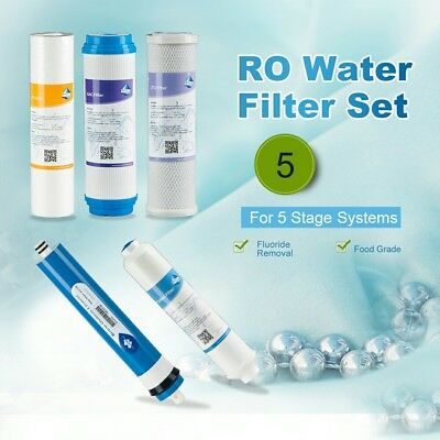 MS 50GPD RO Water Filter set for 5 Stage Reverse Osmosis System Kitchen Aquarium
