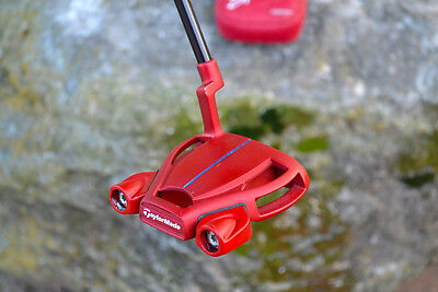 Taylormade Tour Issue Red Spider Putter / Rare PLUMBERS NECK / Sightline