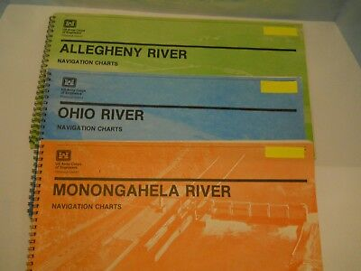 1983 Ohio Monongahela Allegheny River Navigation Charts Us Army Corps Engineers