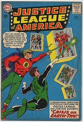 DC Comic Book JUSTICE LEAGUE OF AMERICA #22, Revival Justice Society, V.G., 1963