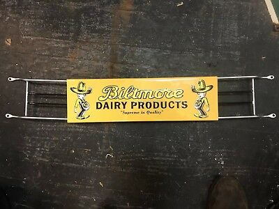 Biltmore Dairy Farms Advertising Metal  Door Pull Push Asheville NC Winky rare