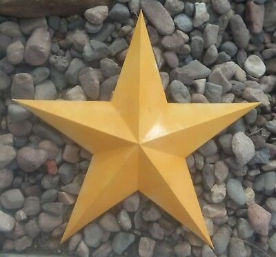 """Rustic Vintage Style Yellow BARN STAR 30 x 28""""  Country Americana DISTRESSED"""