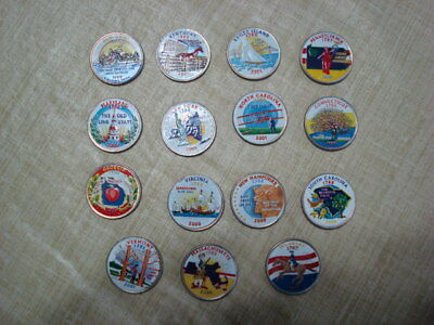 15 Colored State Quarters
