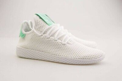 3241f51d24c3b BY8717 Adidas x Pharrell Williams Men Tennis Hu white footwear white green  glow
