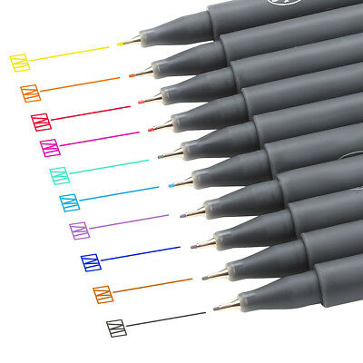 Fineliner Color Pen Set 0.38mm Fine Line Drawing Pen Porous Fine Point Markers