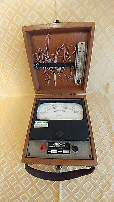 Rare Vintage Assembly Products Metronix Pyrometer In Wooden Box Chesterfied, Oh