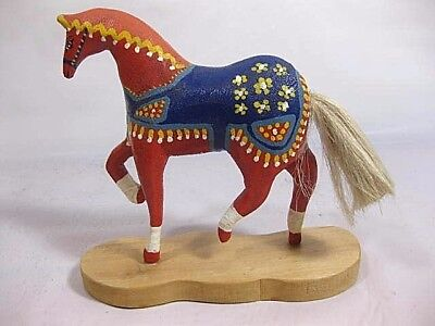 Extremely Rare Special Order Swedish Dala Horse On Stand Signed