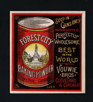 Scarce 1880s Trade Card -  FOREST CITY BAKING POWDER