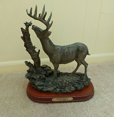 "Ducks Unlimited Bronze Whitetail Buck Statue 3474/4000 ""Morning Harvest"""