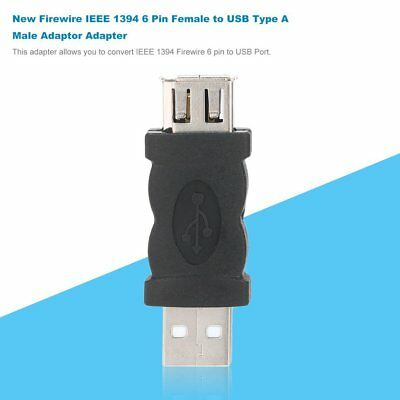New Firewire IEEE 1394 6 Pin Female to USB Type A Male Adaptor Adapter  EM