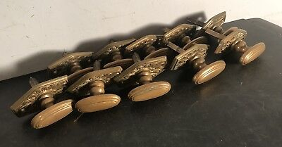 10 antique vtg hexagonal 3/16 key stock thumb turn mortise lock knobs