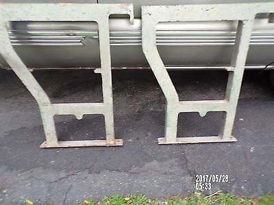 Vintage Industrial Machine Age Cast Iron Workbench / table Legs Metal Art