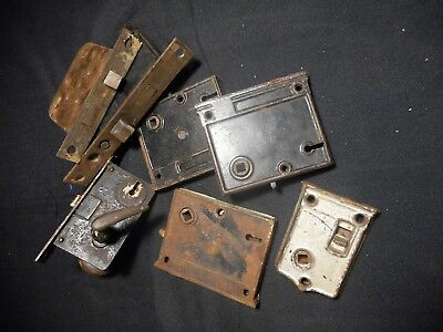 7Antique Mortise And Surface Mount Door Lock Boxes Corbin Rim Lock