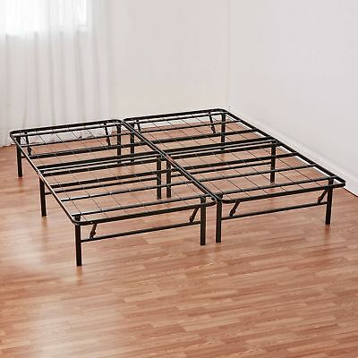 Queen Metal Platform Bed Frame Sturdy Eliminates The Need For A Box