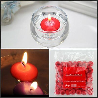 1-100pcs Red Wedding Bridal Party Floating Candle Disc Floater Candles Unscented