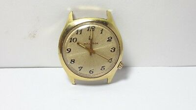 1974 Vintage 2180 Accutron 10Kt. Rolled Gold Plate Tuning Fork Mens Watch N4